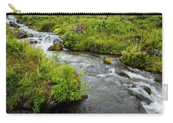 Carry-all Pouch featuring the photograph Headwaters In Summer by Tim Newton