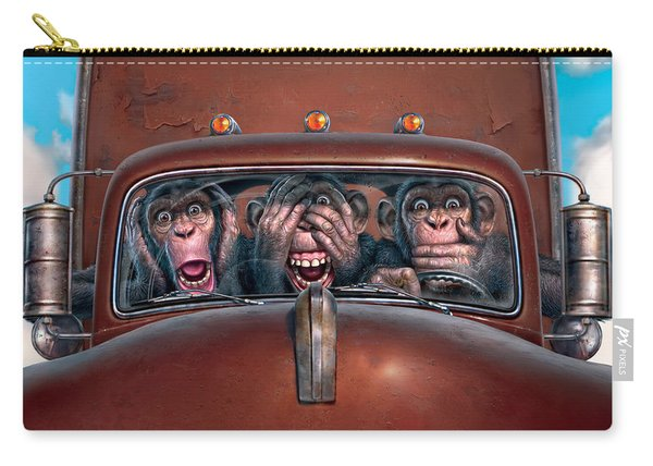 Hear No Evil See No Evil Speak No Evil Carry-all Pouch
