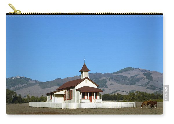 Hearst Castle Simeon Village Church Horses Carry-all Pouch