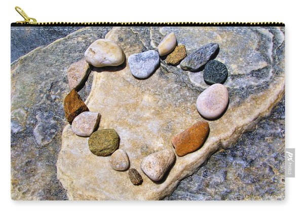 Heart And Stones  Carry-all Pouch