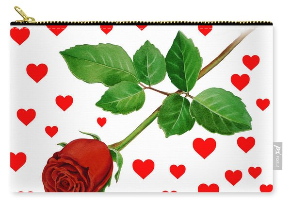 Hearts For Valentine Carry-all Pouch