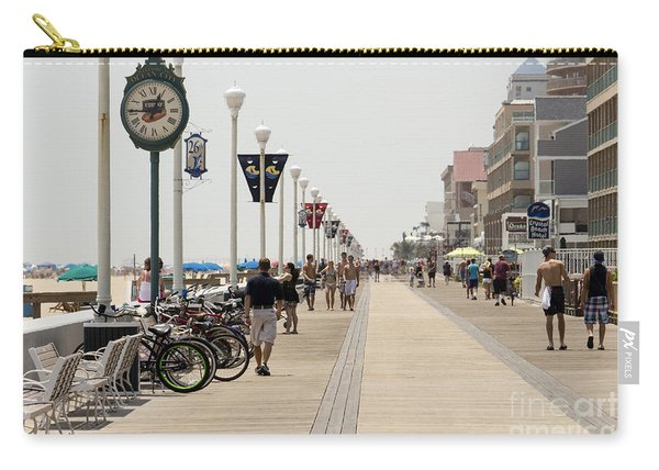 Heat Waves Make The Boardwalk Shimmer In The Distance Carry-all Pouch