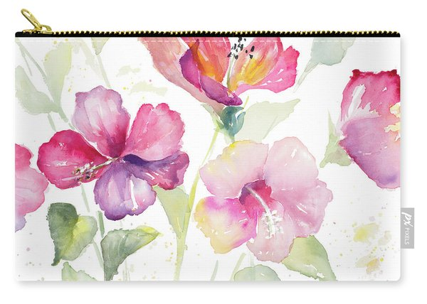 Heavenly Hibiscus Carry-all Pouch