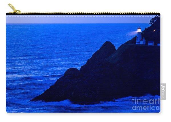 Heceta Head Lighthouse At Dusk - Oregon Coast Carry-all Pouch