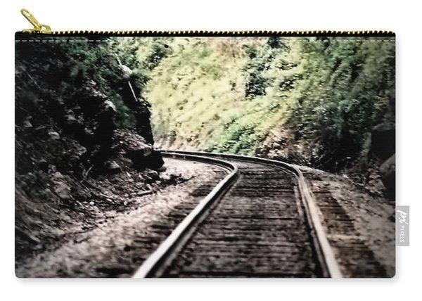 Hegia Burrow Railroad Tracks  Carry-all Pouch