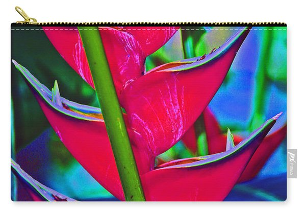 Heliconia Abstract Carry-all Pouch