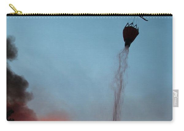 Helicopter Drops Water On White Draw Fire Carry-all Pouch