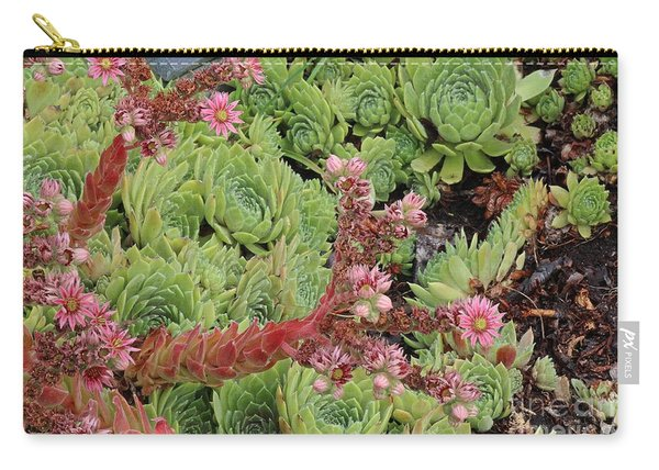 Hen And Chick In Bloom Carry-all Pouch