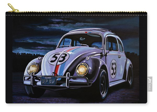 Herbie The Love Bug Painting Carry-all Pouch