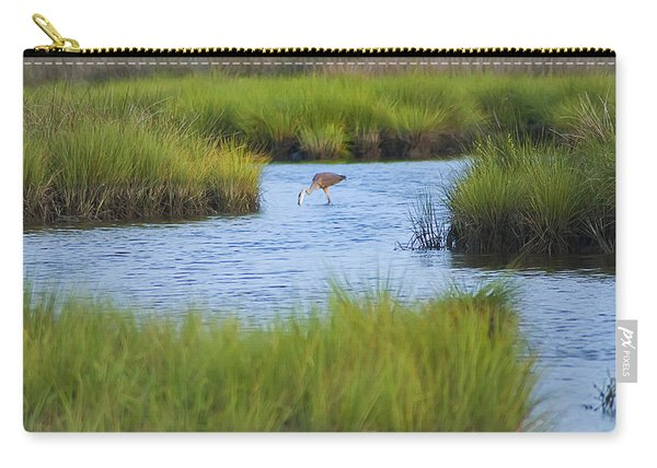 Heron In A Salt Marsh Carry-all Pouch
