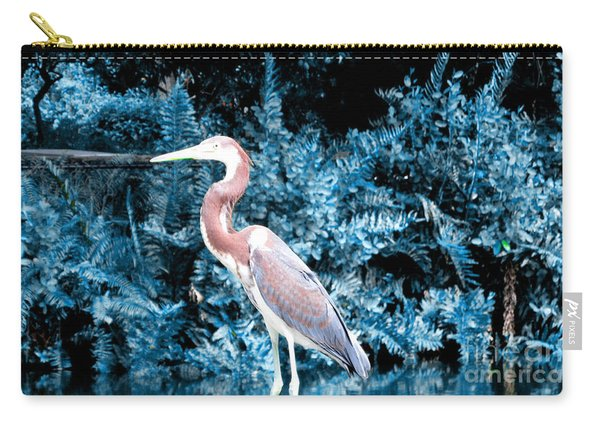 Heron In Blue Carry-all Pouch