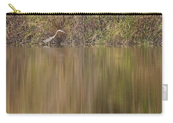 Heron On The River's Edge Carry-all Pouch