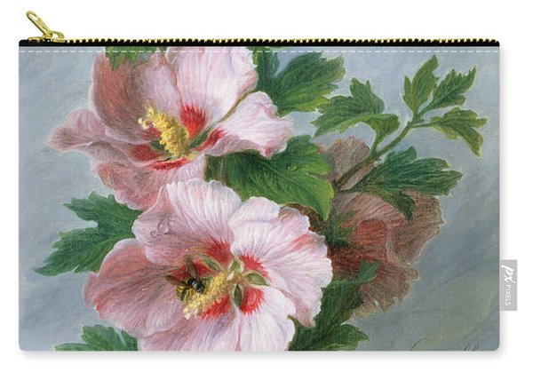 Hibiscus Against A Marble Ledge Carry-all Pouch
