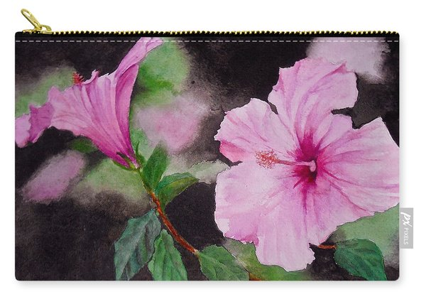 Hibiscus - So Pretty In Pink Carry-all Pouch