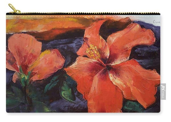 Hibiscus Volcano Carry-all Pouch