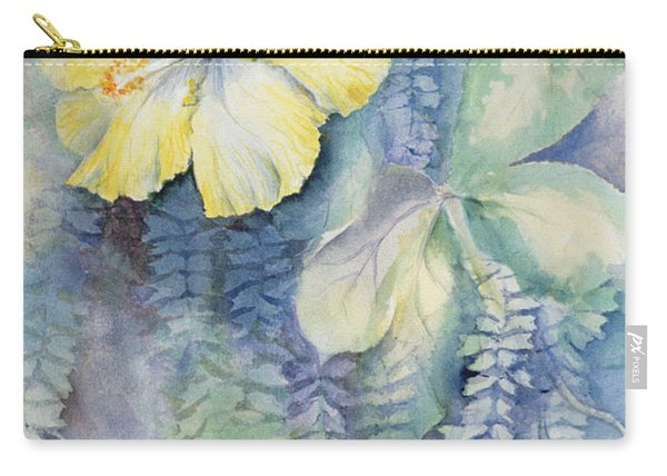 Hibiscus, Yellow Carry-all Pouch