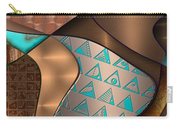 Hieroquoise Cupriglyphs Carry-all Pouch