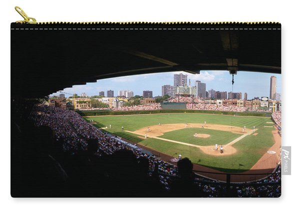 High Angle View Of A Baseball Stadium Carry-all Pouch