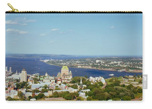 High Angle View Of A Cityscape, Chateau Carry-all Pouch