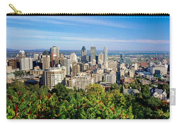 High Angle View Of A Cityscape, Parc Carry-all Pouch