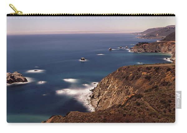 High Angle View Of A Coastline, Big Carry-all Pouch