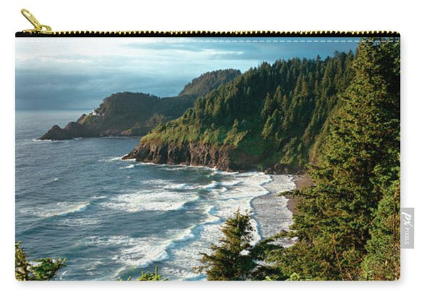 High Angle View Of A Coastline, Heceta Carry-all Pouch