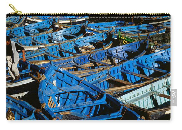High Angle View Of Boats Docked Carry-all Pouch