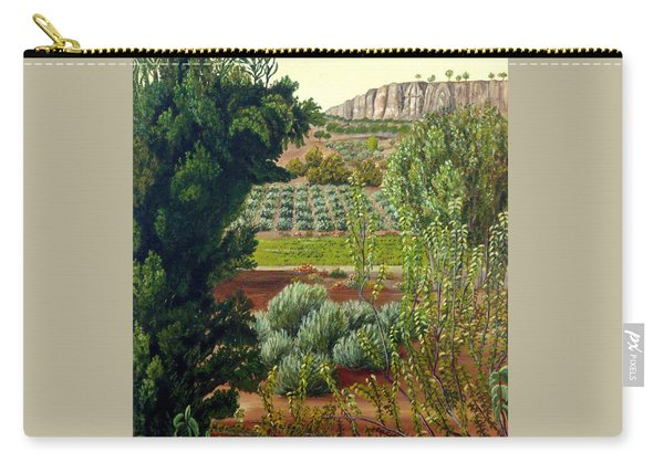 Carry-all Pouch featuring the painting High Mountain Olive Trees  by Angeles M Pomata