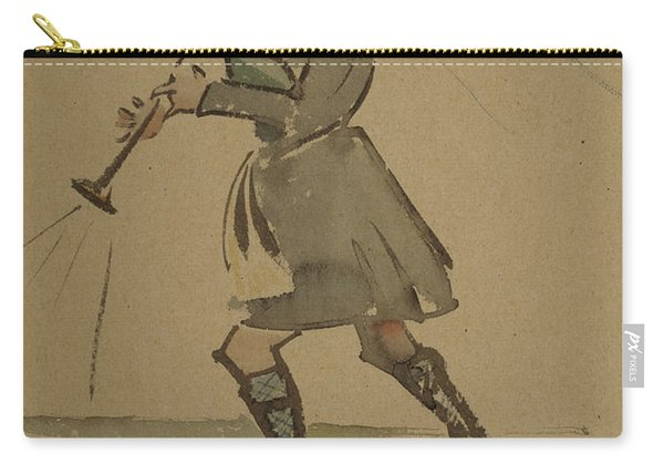 Highlander Playing Bagpipes, 1900 Carry-all Pouch