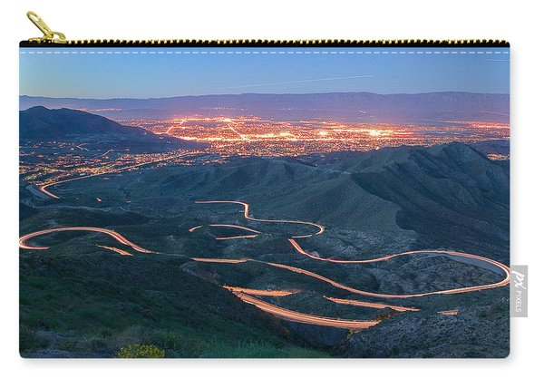Highway 74 Palm Desert Ca Vista Point Light Painting Carry-all Pouch