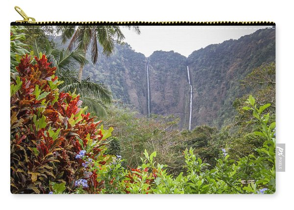 Hiilawe And Hakalaoa Falls Carry-all Pouch