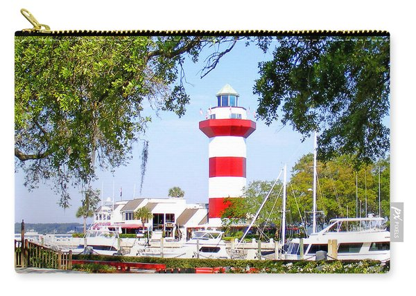 Hilton Head Lighthouse And Marina Carry-all Pouch