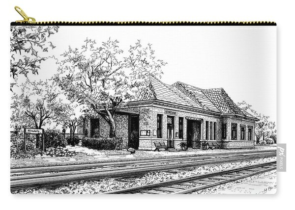 Hinsdale Train Station Carry-all Pouch