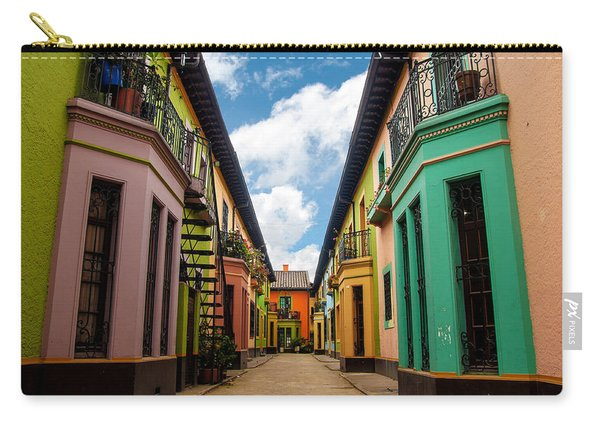 Historic Colorful Buildings Carry-all Pouch