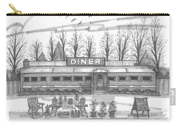 Historic Village Diner Carry-all Pouch