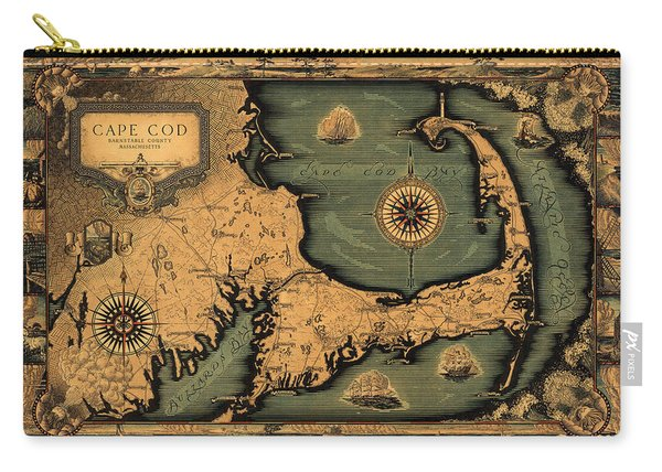 Historical Map Of Cape Cod Carry-all Pouch