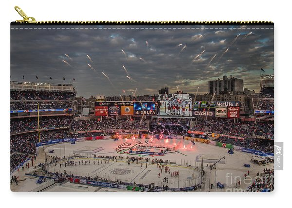 Hockey At Yankee Stadium Carry-all Pouch