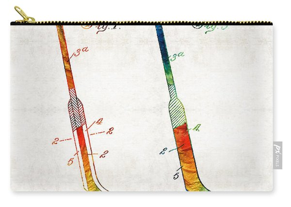 Hockey Stick Art Patent - Sharon Cummings Carry-all Pouch