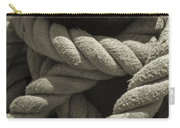 Hold On Black And White Sepia Carry-all Pouch