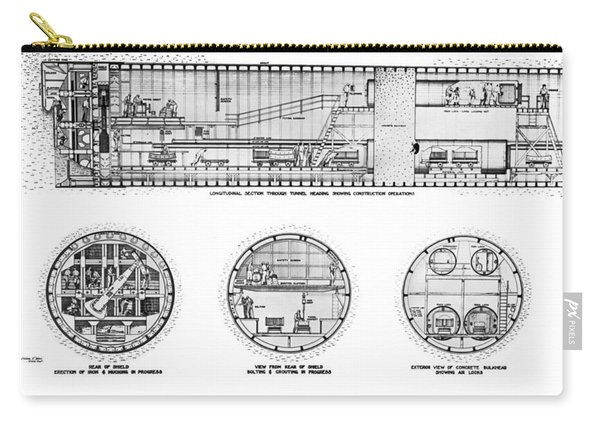 Holland Tunnel Construction Carry-all Pouch