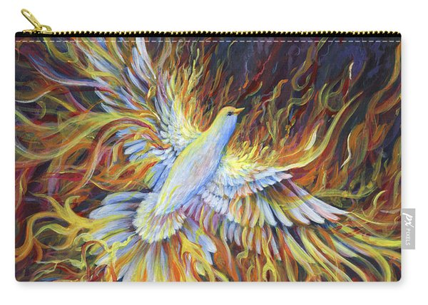 Carry-all Pouch featuring the painting Holy Fire by Nancy Cupp