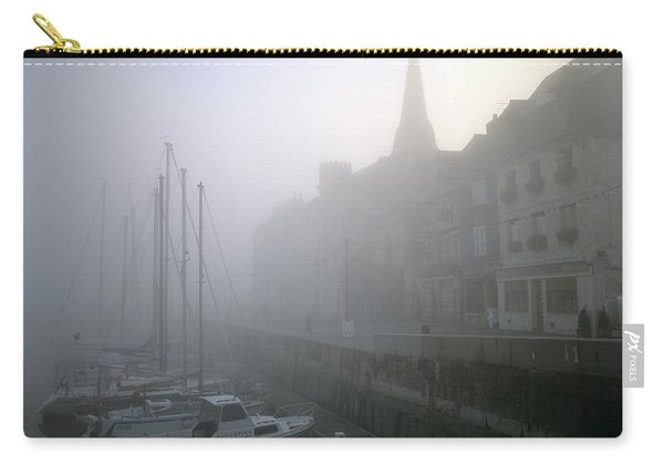 Honfleur Harbour In Fog. Calvados. Normandy. France. Europe Carry-all Pouch