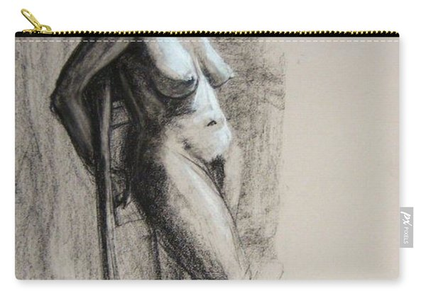 Carry-all Pouch featuring the drawing Hood by Gabrielle Wilson-Sealy