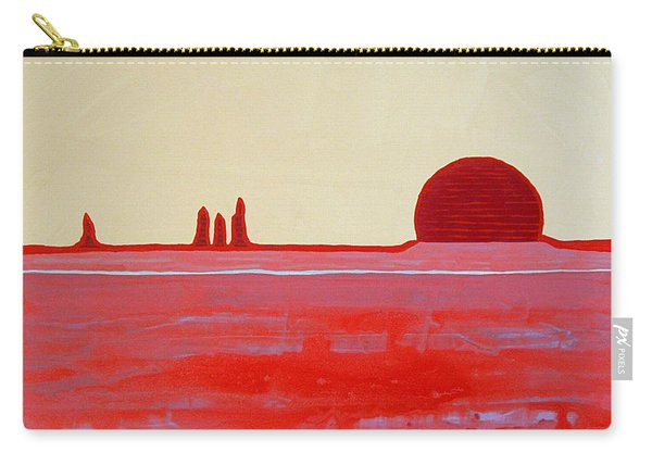 Hoodoo Sunrise Original Painting Carry-all Pouch