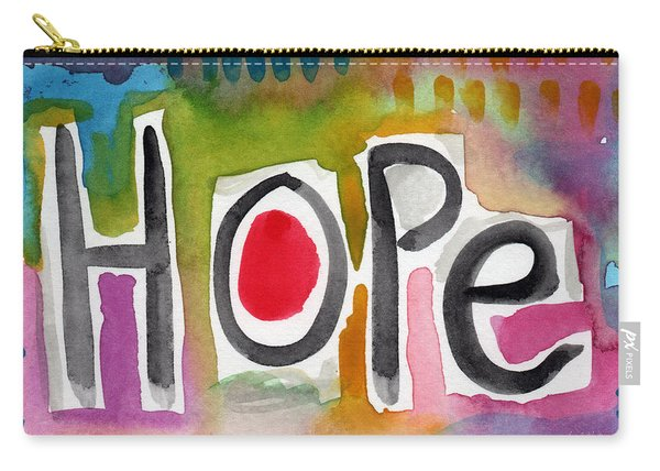 Hope- Colorful Abstract Painting Carry-all Pouch