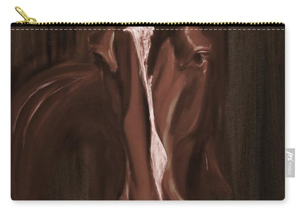 Horse Apple Warm Brown Carry-all Pouch