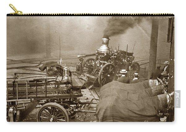 Horse Drawn Water Steam Pumper Fire Truck Circa 1906 Carry-all Pouch
