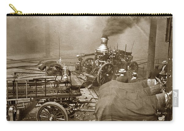 Horse Drawn Water Steam Pumper Fire Truck Circa 1906 Carry-all Pouch