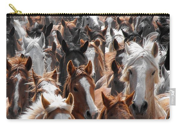 Horse Faces Carry-all Pouch