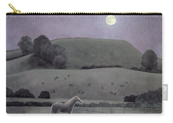 Horse In Moonlight, 2005 Oil On Canvas Carry-all Pouch